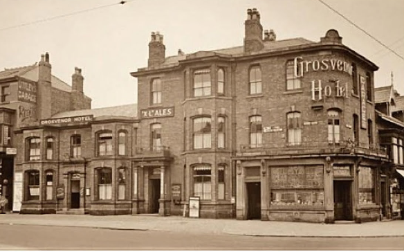 An old photograph of the Grosvenor Hotel circa 1930(?)